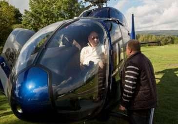 Pro Michala Davida přijel vrtulník