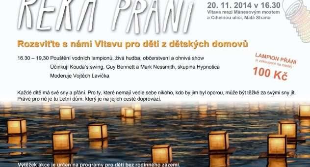Petr Vacek s Alicí Bendovou pomohou rozsvítit Vltavu pro děti z dětských domovů
