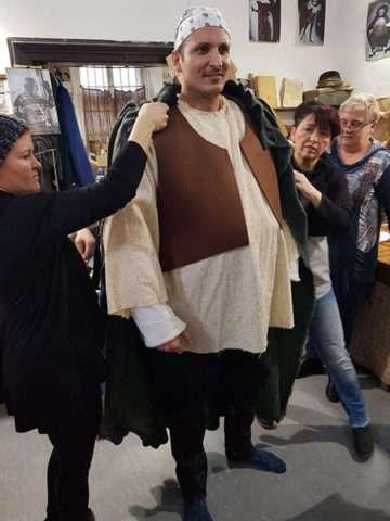Radim Schwab na zkoušce kostýmu