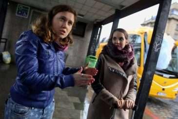 Režisérka Eva Toulová s herečkou Michaelou Tomešovou