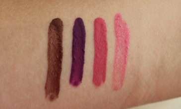 Dermacol 16h Lip Colour - zleva odstíny 24 19, 16, 15