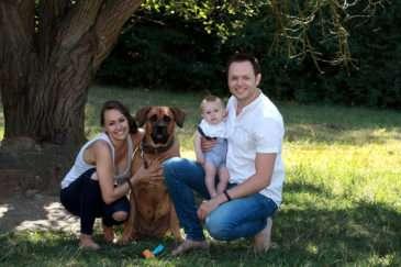 Jan Kříž s rodinou