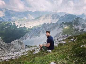 Milan Peroutka si užíval krásy rakouských hor