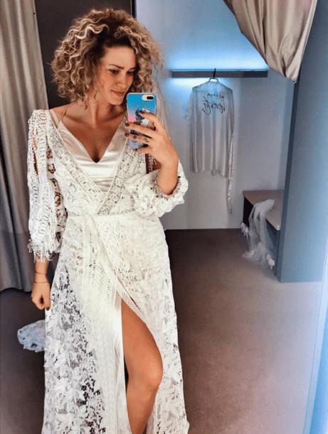 Kateřina Sedláková ve svatebních šatech