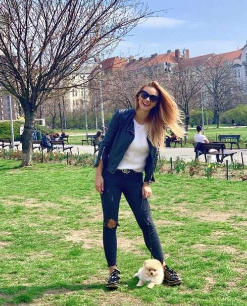 Barbora Mottlová se snovým novým kamarádem Chicem