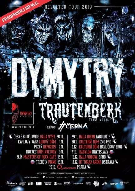 Kompletní rozpis Dymytry Revolter tour