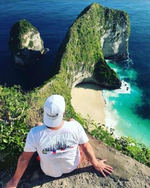 Luboš Krmenčík při odpočinku na Bali