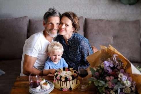 Andrea Růžičková s manželem a synem
