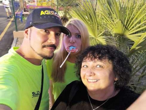 Bohuš Matuš s přítelkyní a manažerkou
