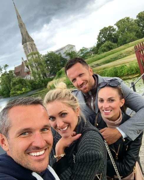 Manželé Hejdovi s přáteli v Kodani
