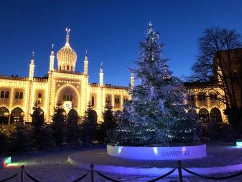Kodaň vánoční strom v Tivoli