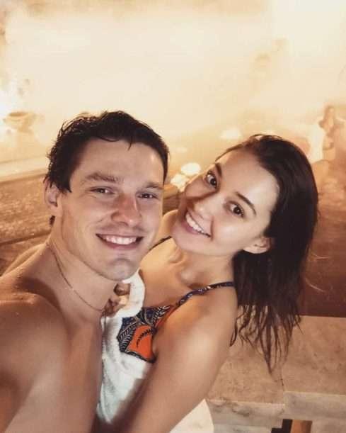 Pavel Callta a Sabina Rojková v maďarských lázních